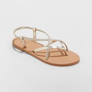 Shade & Shore Cami Braided Thong Sandals